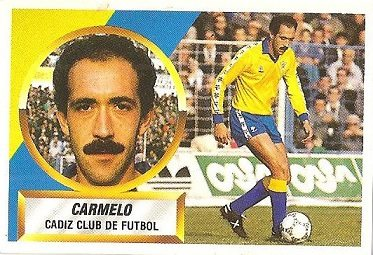 Liga 88-89. Carmelo (Cádiz C.F.). Ediciones Este.