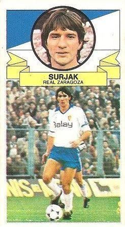 Liga 85-86. Surjak (Real Zaragoza). Ediciones Este.
