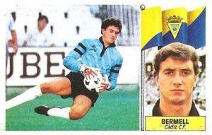 Liga 86-87. Fichaje Nº 22 Bermell (Cádiz C.F.). Ediciones Este.