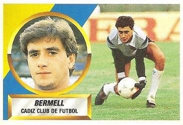 Liga 88-89. Bermell (Cádiz C.F.). Ediciones Este.