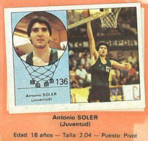 Campeonato Baloncesto Liga 1984-1985. Antón Soler (Joventut de Badalona). Ediciones J. Merchante - Clesa. 📸: Emilio Rodriguez Bravo.