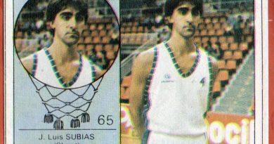 Campeonato Baloncesto Liga 1984-1985. Subias (Claret de Las Palmas). Ediciones J. Merchante - Clesa. 📸: Grupo de Facebook Nuestros álbumes de cromos.