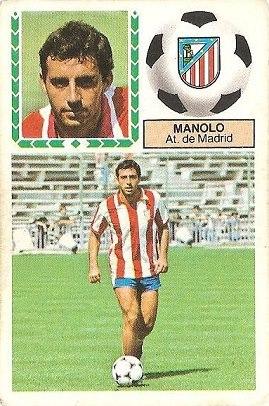 Liga 83-84. Manolo (Atlético de Madrid). Ediciones Este.