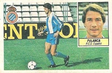 Liga 84-85. Palanca (R.C.D. Español). Ediciones Este.