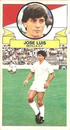 Liga 85-86. José Luís (Sevilla C.F.). Ediciones Este.