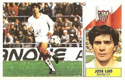 Liga 86-87. José Luis (Sevilla C.F.). Ediciones Este.