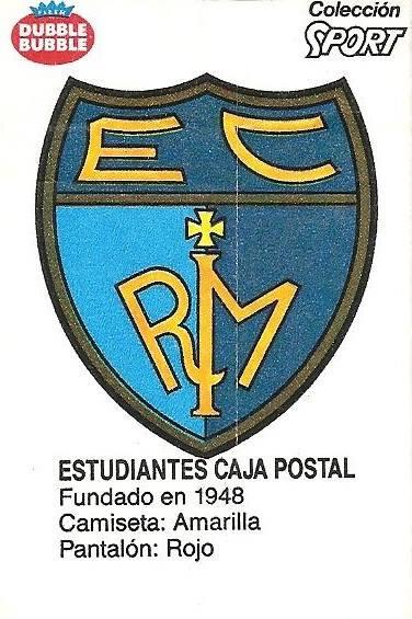 Liga Baloncesto 1985-1986. Escudo Estudiantes (Estudiantes). Ediciones Dubble Dubble.