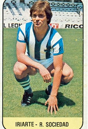 Liga 78-79. Iriarte (Real Sociedad). Ediciones Este. 📸: Toni Izaro.