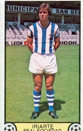 Liga 79-80. Iriarte (Real Sociedad). Ediciones Este. 📸: Toni Izaro.