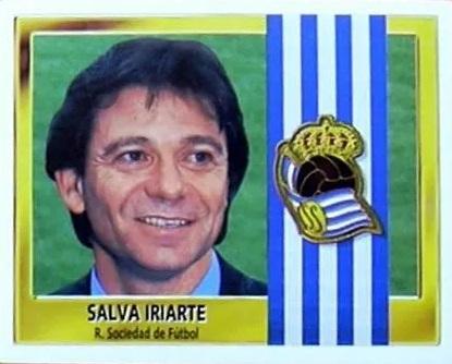 Liga 95-96. Salva Iriarte (Real Sociedad). Ediciones Este. 📸: Luis Pérez.