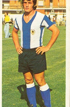 Liga 75-76. José Antonio (Hércules C.F.). Ediciones Este. 📸: Toni Izaro.