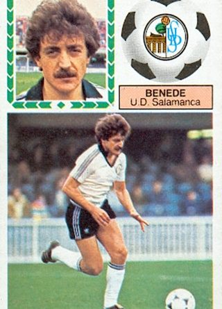Liga 83-84. Benedé (U.D. Salamanca). Ediciones Este. 📸: Toni Izaro.