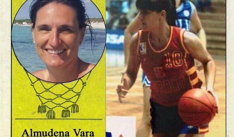 Almudena Vara (Selección española de baloncesto femenino). 📸: Cromo-Montaje del Grupo de Facebook Nuestros álbumes de cromos.
