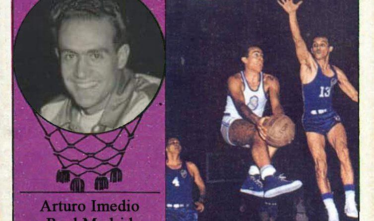 Arturo Imedio (Real Madrid). 📸: Cromo-Montaje del Grupo de Facebook Nuestros álbumes de cromos.