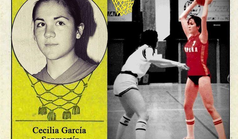 Cecilia García (Selección Femenina de Baloncesto de España). 📸: Cromo-Montaje del Grupo de Facebook Nuestros álbumes de cromos.