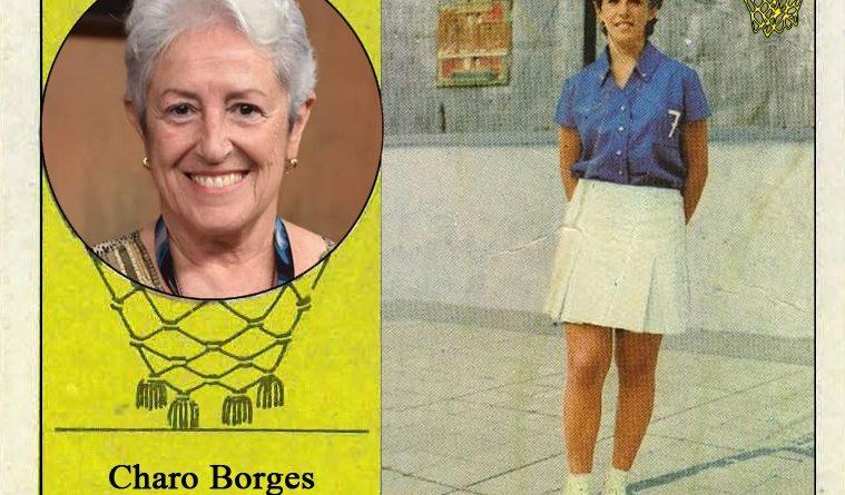 Charo Borges (María Auxiliadora). 📸: Cromo-Montaje del Grupo de Facebook Nuestros álbumes de cromos.