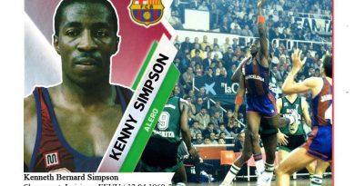 Kenny Simpson (F.C. Barcelona). 📸: Cromo-Montaje del Grupo de Facebook Nuestros álbumes de cromos.