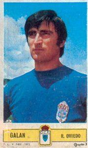 Liga 73-74. Galán (Real Oviedo). Ediciones Este. 📸: Toni Izaro.