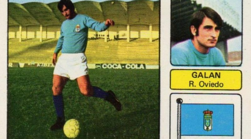Liga 73-74. Galán (Real Oviedo). Editorial Fher. 📸: Juan Álvarez.