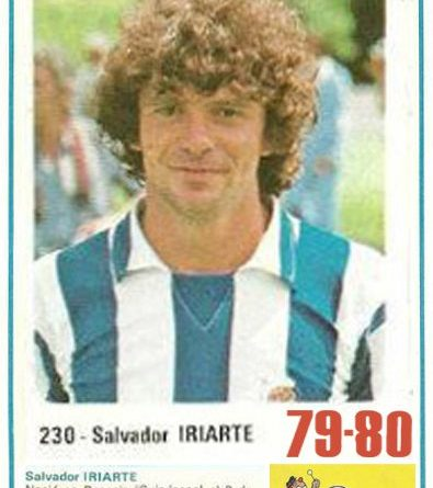 Liga 79-80. Iriarte (Real Sociedad). Editorial Cromo Crom. 📸: Grupo de Facebook Nuestros álbumes de cromos.