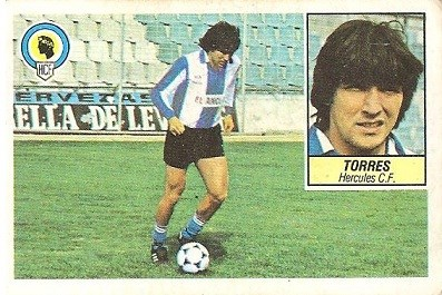 Liga 84-85. Torres (Hércules C.F.). Ediciones Este.