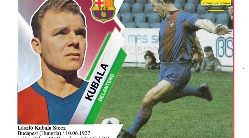 Kubala (F.C. Barcelona) 📸: Cromo-Montaje del Grupo de Facebook Nuestros álbumes de cromos.