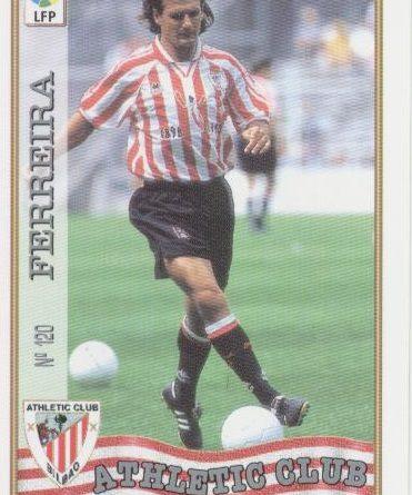 Las fichas de la Liga 97-98. Nº 120. Patxi Ferreria (Athletic Club). Editorial Mundicromo.