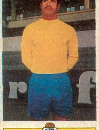 Liga 73-74. Gilberto II (U.D. Las Palmas). Ediciones Este. 📸: Toni Izaro.