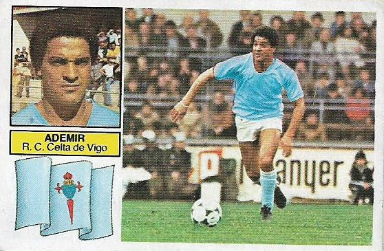 Liga 82-83. Ademir (Celta de Vigo). Ediciones Este. 📸: Agustín Parodi Soria.
