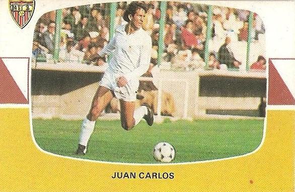 Liga 84-85. Juan Carlos (Sevilla C.F.). Cromos Cano.