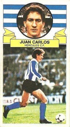 Liga 85-86. Fichaje Nº 5 Juan Carlos (Hércules C.F.). Ediciones Este.