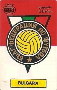 Mundial 1986. Escudo Bulgaria (Bulgaria). Ediciones Dubble Dubble.