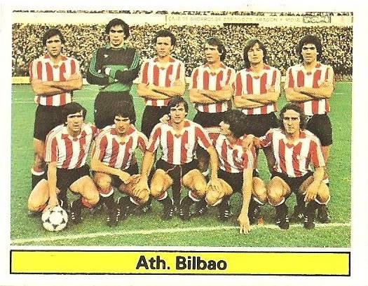 Liga 81-82. Alineación Athletic Club de Bilbao (Athletic Club de Bilbao). Ediciones Este.