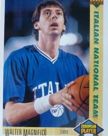 1992. NBA. Walter Magnifico (Italia). Upper Deck. 📸: José Martín.