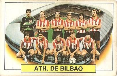 Liga 83-84. Alineación Athletic Club de Bilbao (Athletic Club de Bilbao). Ediciones Este.
