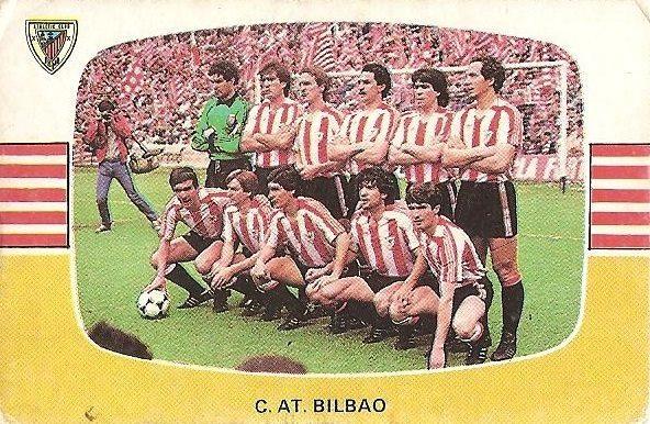Liga 84-85. Alineación Athletic Club de Bilbao (Athletic Club de Bilbao). Cromos Cano.