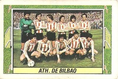 Liga 84-85. Alineación Athletic Club de Bilbao (Athletic Club de Bilbao). Ediciones Este.