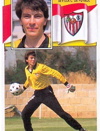 Liga 88-89. Dassaev (Sevilla F.C.). Ediciones Este. 📸: Toni Izaro.