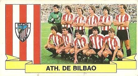 Liga 85-86. Alineación Athletic Club de Bilbao (Athletic Club de Bilbao). Ediciones Este.