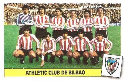 Liga 86-87. Alineación Athletic Club de Bilbao (Athletic Club de Bilbao). Ediciones Este.