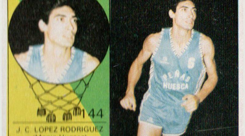Baloncesto 85-86. López Rodríguez (Magía de Huesca). Editorial Merchante. 📸: Grupo de Facebook Nuestros álbumes de cromos.