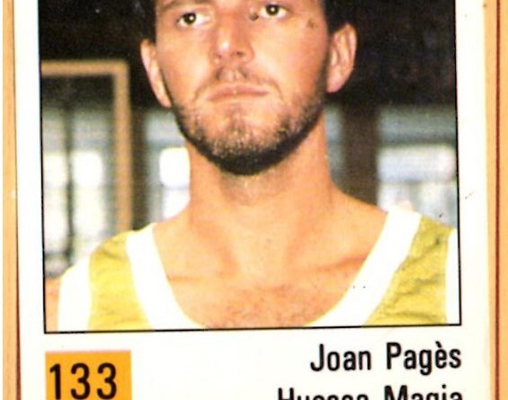 Basket 90 ACB. Joan Pagés (C.B. Magia Huesca). Ediciones Panini. 📸: Grupo de Facebook Nuestros álbumes de cromos.