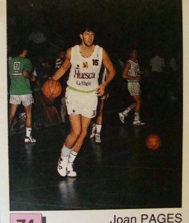 Basket 91 ACB. Joan Pagés (C.B. Magia Huesca). Ediciones Panini. 📸: Fernando Salgado Romero.