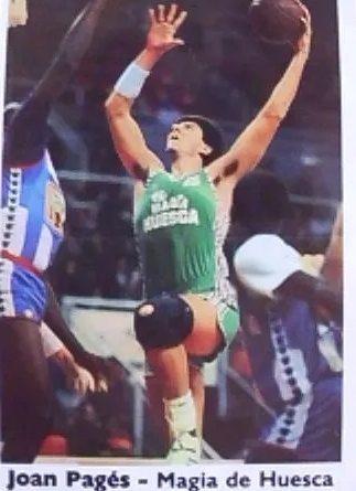 Basket Cromos 88-89. Joan Pagés (C.B. Magia Huesca). Editorial J. Merchante - Bollycao. 📸: Julián López Fernández.