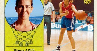 Blanca Ares (Selección española de baloncesto femenino). 📸: Cromo-Montaje del Grupo de Facebook Nuestros álbumes de cromos.