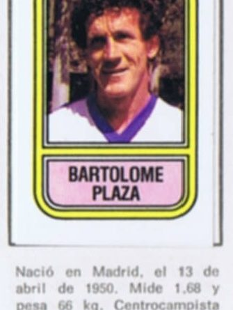 Fútbol 82. Plaza (Linares C.F.). Ediciones Panini. Cromo Crom. 📸: Grupo de Facebook Nuestros álbumes de cromos.