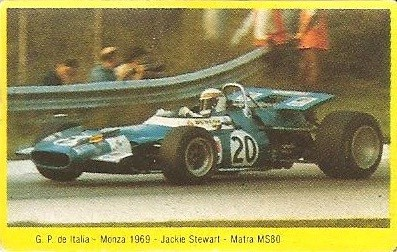 Grand Prix Ford 1982. Jackie Stewart (Matra) . (Editorial Danone).