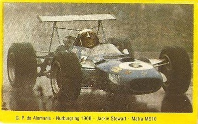 Grand Prix Ford 1982. Jackie Stewart (Matra). (Editorial Danone).