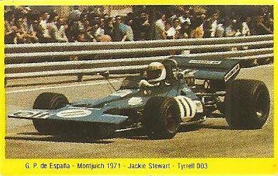 Grand Prix Ford 1982. Jackie Stewart (Tyrrell 003). (Editorial Danone).