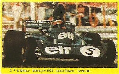 Grand Prix Ford 1982. Jackie Stewart (Tyrrell 006). (Editorial Danone).